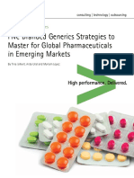 Accenture Five Branded Generics Strategies Pharmaceuticals in Emerging Markets
