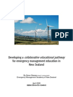 NZ Collaborative Emergency Managment  Education Pathway