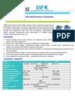 JCBP Smart Diffusive Silicon Pressure Transmitter -1