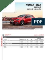 Listino Prezzi Seat Ibiza 2017