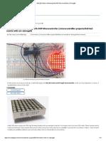 8x8 LED Matrix Interfacing With AVR Microcontroller (ATmega8)