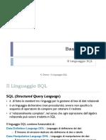 5.1 - Il Linguaggio SQL