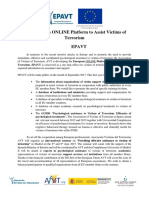Platform to Assist Victims of Terrorism EPAVT