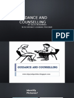Guidance and Counselling Lecture One