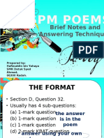 spm poem brief notes n answering techniques by Sir Hafizuddin