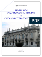 Appunti Di Storia Del Politecnico e Dell'Industrializzazione