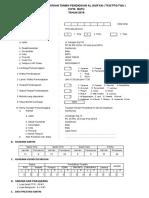 Format 1. Formulir Pendataan 2015