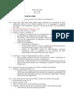 Midterms - Civil Code Provisions