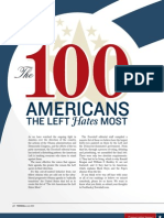 100 Americans the Left Hates the Most