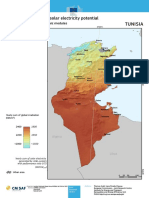 Irradiance Annuelle en Tunisie - PVGIS