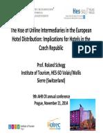 Schegg 2014_Hotel Distribution and OTA_Prague_21 Nov 2014