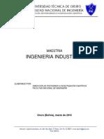 Programa de Maestria en Ingenieria Industrial