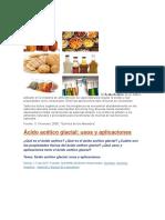 Aplicaciones de Acido Acetico