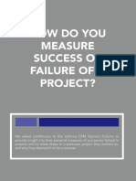 How Do You Measure Success or Failure of a Project?