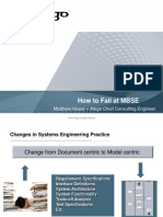 How to Fail at MBSE Matthew Hause – Atego Chief Consulting Engineer
