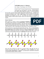 MATE1000 Lecture 13 Polymers