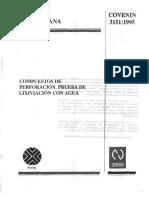 Norma 3151-95. Prueba de Lixiviación Con Agua