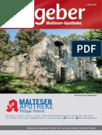 Ratgeber aus Ihrer Malteser-Apotheke – Mai 2017
