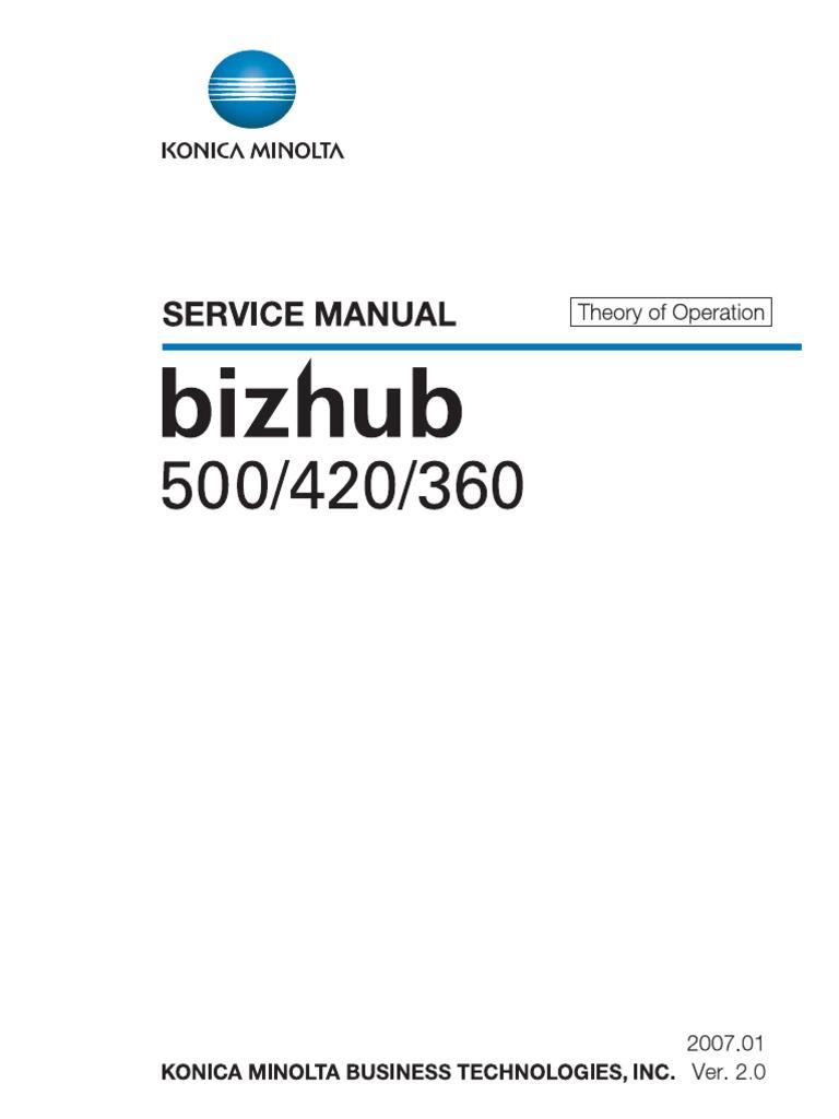 konicaminolta bizhub 360 420 500 service manual bookmark 1 jpg Array -  konica minolta bizhub 360 420 500 to ac power plugs and sockets rh scribd