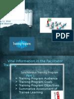 facilitator training program week six cur 532