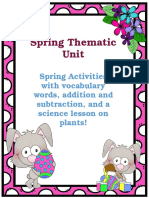 spring thematic unit