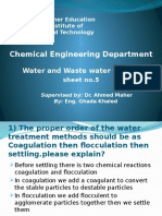 Answers of Sheet No.5 Water Treatment