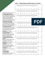 methods-materials senior seminar rubric