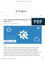 100+ Awesome Web Development Tools and Resources