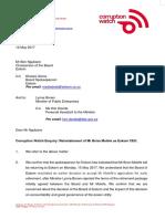 Letter to Eskom Board Molefe