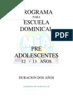 12 a 13 Años Pre Adolescentes