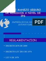 Plan de Manejo Seguro de Residuos a Nivel de IPS