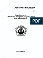( Vol III ),2004 Regulation for the Bridge Design on Seagoing Ships One Man Console,2004
