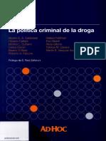 cuñarro-politica criminal drogas-sumario