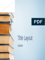 Title Layout