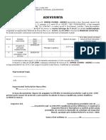 Adeverinta Vechime Model ITM