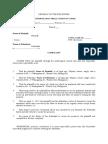 Sample Complaint - Civil Case