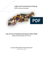 Use of Force Statistical Analysis 2012-2016