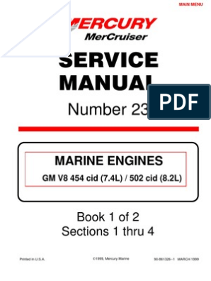 Merc Service Manual 23 454 502 Engines | Internal Combustion