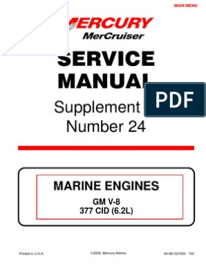 Merc Service Manual 24 Supplement 6 2l   Internal Combustion
