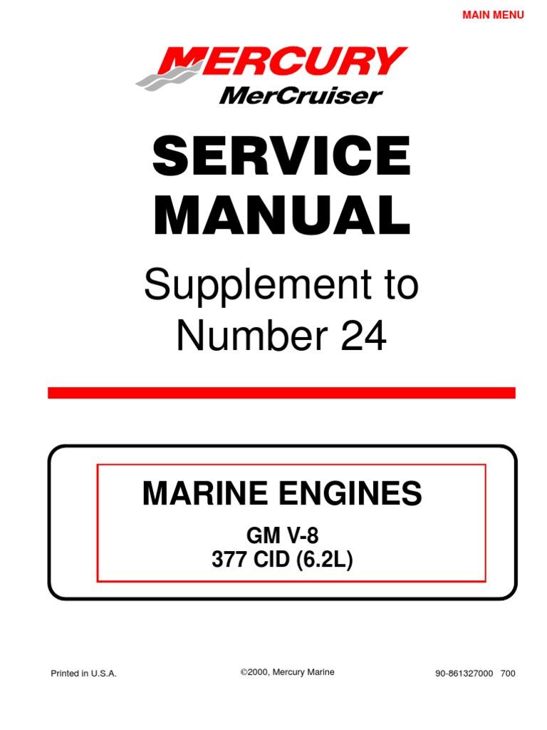 merc service manual 24 supplement 6 2l gasoline fuel injection rh scribd com Mercruiser 350 Thermostat Check Valves Mercruiser 350 Magnum
