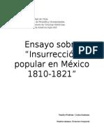 Eric Van Young en Su Analisis Sobre La Insurrección Popular en México Entre Los Años 1810 y 1821