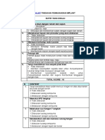 Checklist Implant