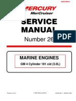 mercruiser 4 cyl 3 0 service manual gasoline internal combustion rh scribd com Mercruiser 3.0 Specifications Drain Plug for 3 0 Mercruiser Starboard Side