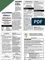 Church Newsletter 25 July 2010