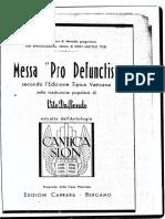 Messa Pro Deffunctis Matteo Tosi