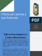 Filtros de Lechos y sus avances