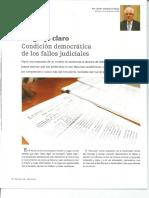 Lenguaje Claro -  Condición democrática de los Fallos Judiciales