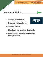 Chavetas, Roscas y Datos Técnicos