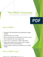 The GREAT Scholarship