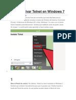 Cómo Activar Telnet en Windows 7